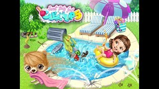 Sweet Baby Girl - Cleanup  House Makeover, Pony Care & BBQ Pool Party Best Games for Kids