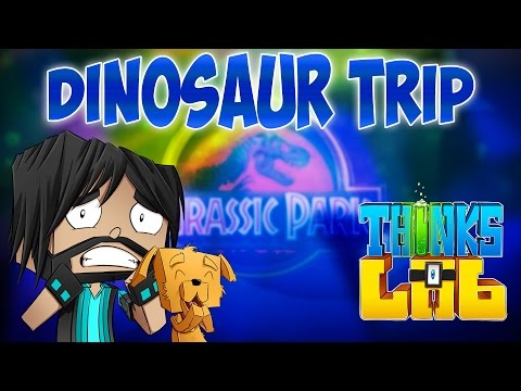 Minecraft Mods: Think's Lab - Visiting Jurassic Park!