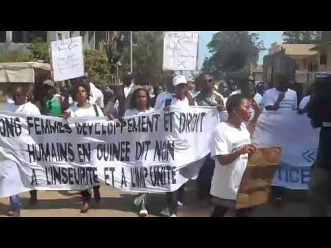Les frustrés contre l'insécurité dans la rue de Kaloum, à Conakry