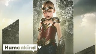 Tiny Wonder Woman meets Gal Gadot | Humankind