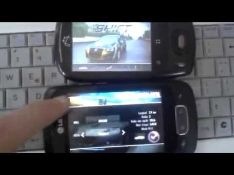 Zte N720 Vs Lg Optimus One Need for Speed Shift