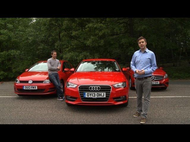 2013 Audi A3 vs Mercedes A-Class vs VW Golf Group Test ...