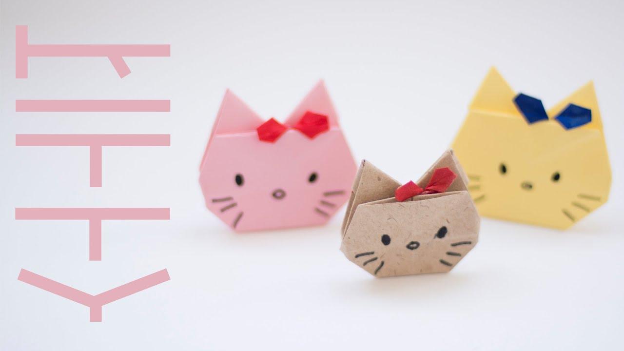 Как сделать из бумаги бантик для кошки