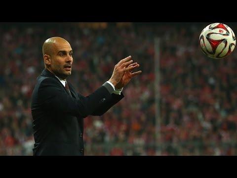 Pep Guardiola Play Basketball (Leverkusen Bayern vs Bayern Munich) (DFB Pokal) (04.08.2015)