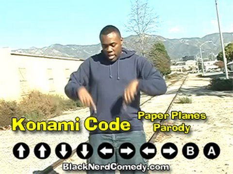 KONAMI CODE (Paper Planes Parody) Music Video - Black Nerd