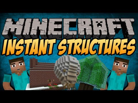 Minecraft Mods INSTANT STRUCTURES Easy Building 1.4.7