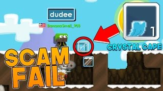 SCAM FAIL- Crystal Cape! [Growtopia]