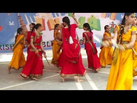 Gujrati Dandiya By Students Of Guru Harkrishan Public School Hargobind Enclave Delhi video