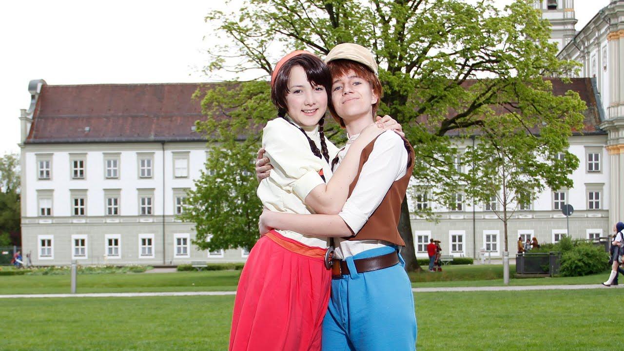 Das Schloss im Himmel Wallpaper Pazu Und Sheeta Das Schloss
