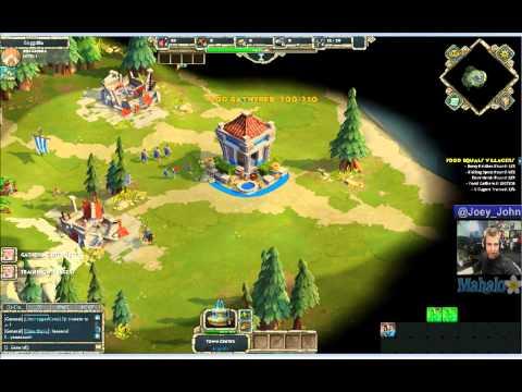 Age of Empires Online Walkthrough - Pt.1 Greeks - Food Equals Villagers