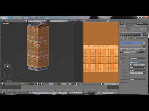 Blender 2.6 Hacer edificios y ponerles texturas.avi