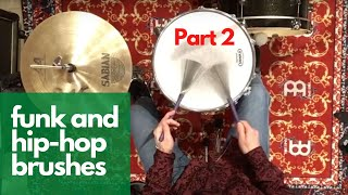 D4L Brushes Lesson #12 - Funk and Hip-Hop Brush Patterns with Bass Drum and Hi-Hat