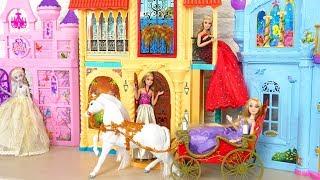 Elena of Avalor Barbie doll Royal Castle & Horse Carriage Toy Putri Barbie Istana Princesa Castelo