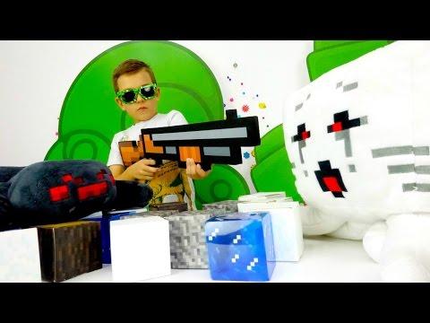 Кто сильней Гаст или Паук? Видео обзоры игрушек Майнкрафт.