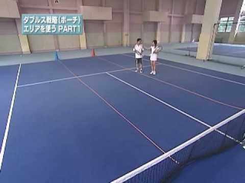 テニス絶対上達 ㊙メソッド ダブルス戦略 ポーチ エリアを使うPART1