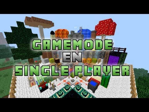 [Tutorial] Como poner creativo. Gamemode en Single Player sin Mod - Minecraft