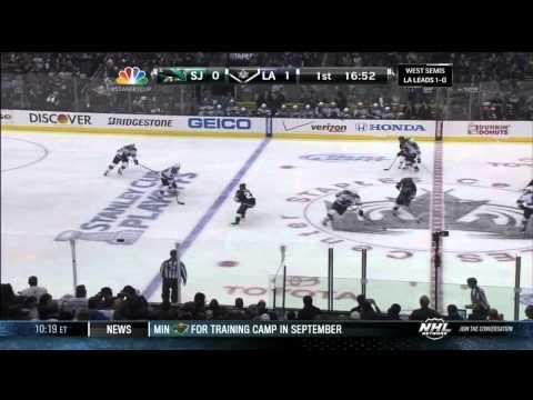 Jeff Carter snipe goal 1-0 May 16 2013 San Jose Sharks vs LA Kings NHL Hockey