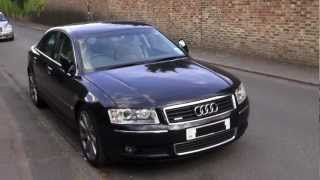 PART 1/3 2004 AUDI A8 3.0 TDi QUATTRO SPORT REVIEW, IN DEPTH TOUR, ENGINE, KEYLESS START UP