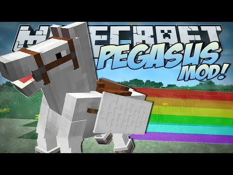 Minecraft | PEGASUS MOD (Magic Seeds & Flying Horses!) | Mod Showcase