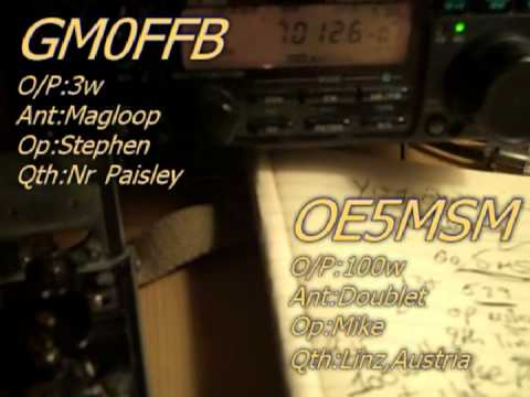 MAGLOOP & 3watts GM0FFB works Mike in Austria