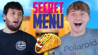 TRYING TACO BELL SECRET MENU ITEMS MUKBANG