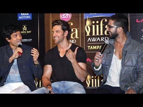 15th Annual IIFA Awards 2014 Press Conference | Hrithik Roshan, Shahid Kapoor & Farhan Akhtar