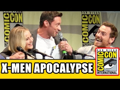X-Men: Apocalypse Comic Con Panel - Jennifer Lawrence, Michael Fassbender, Hugh Jackman