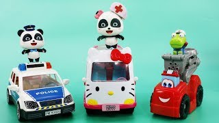 Learn Colors with Police Car, Fire Truck, Ambulance | Vehicle for Kids | Babies Videos | ToyBus