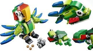 Lắp ráp Lego động vật rừng nhiệt đới 3 trong 1