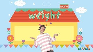 OH! JANE _ 10th Weight Song_ Sing Along _ Learn English For Kids _ montessori project