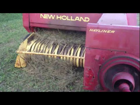 How a Square Baler works New Holland Trouble shooting twine keeps breaking won't work farming