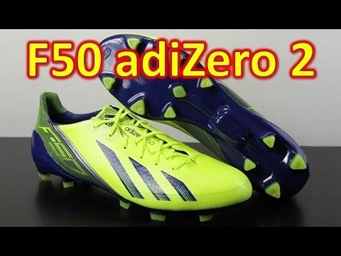 Adidas F50 adizero miCoach 2 Synthetic Electricity/Hero Ink - Unboxing + On Feet