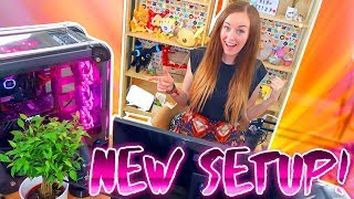 🛠BUILDING MY NEW SETUP + NEW PC!!!🖥✨