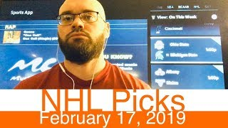 NHL Picks (2-17-19) | Hockey Sports Betting Expert Predictions Video | Vegas | February 17, 2019