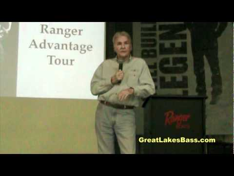 New B.A.S.S. owner Jerry McKinnis talks about the 2011 Elite Series and young anglers qualifying to the Ranger Boats factory tour 2010 crowd specifically men...
