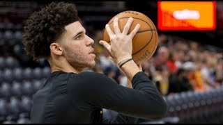 Lonzo Ball Throwing FIRST Pelicans Practice with Zion Williamson! Lonzo Ball Hitting Threes