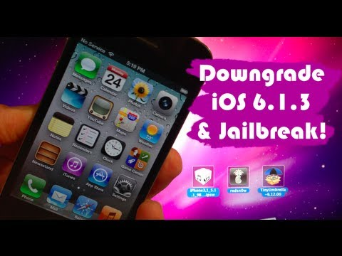 How to Downgrade iOS 6.1.3 on iPhone 4. 3GS. & iPod 4G & Get Untethered Jailbreak!