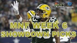 WEEK 6 MONDAY NIGHT FOOTBALL NFL DFS SHOWDOWN PICKS - Lions-Packers - Awesemo.com