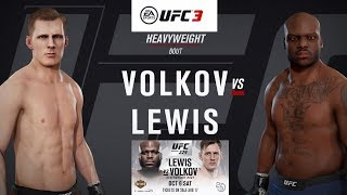 UFC 229: Derrick Lewis vs. Alexander Volkov: Ea Sports UFC 3 Simulation (Ai.vs Ai)