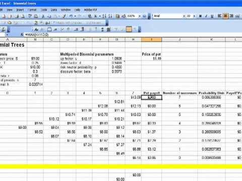 Binary option pricing example
