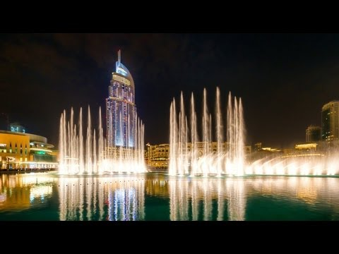 Dubai Fountain -kiss Goodbye,the Magnificent Seven, Baba Yetu video