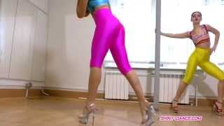 Shiny Dance - girls in spandex dancing sexy