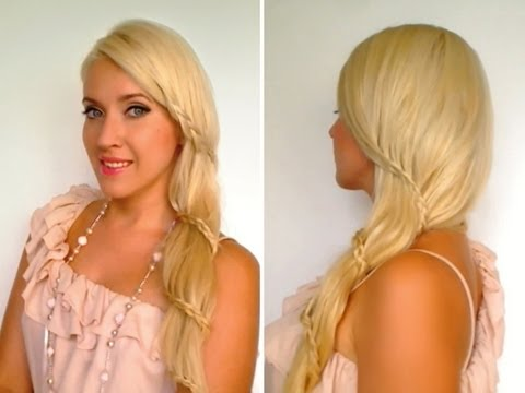 Spiral Lace Braid Romantic Carousel Braid Prom Wedding Hairstyles For Long Hair