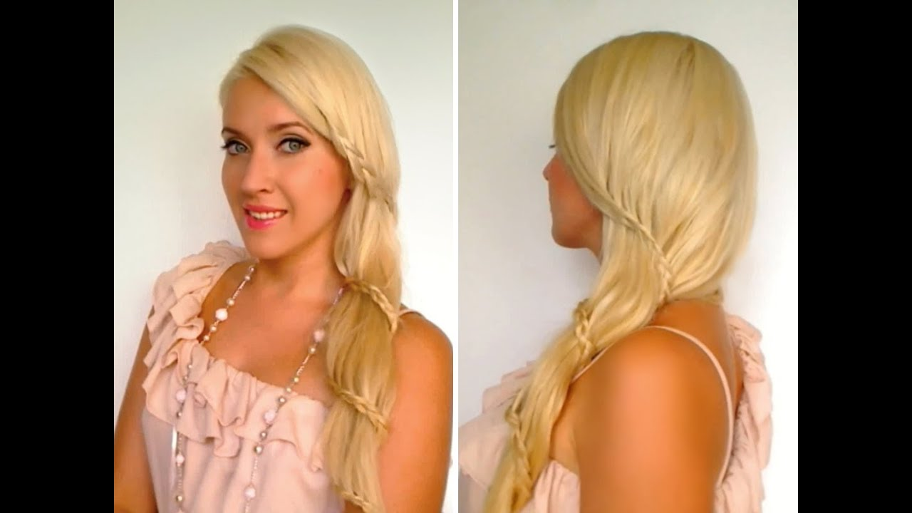 Spiral lace braid Romantic carousel braid Prom wedding hairstyles for ...