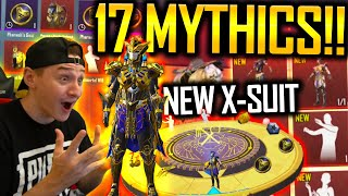 17 MYTHICS IN ONE OPENING?!?! NEW X-SUIT IN PUBG MOBILE