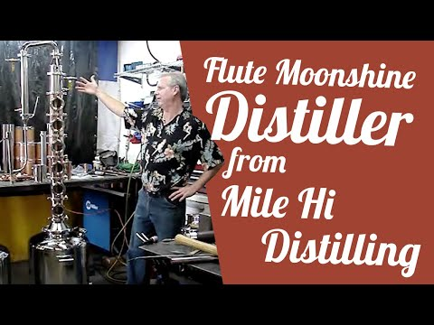 Flute moonshine distiller from Mile Hi Distilling