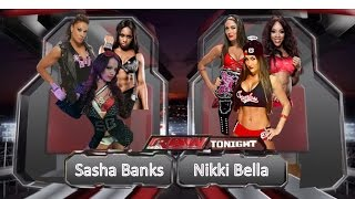 Wwe 2K15 - Nikki Bella Vs. Sasha Banks (Team Bella vs. Team Bad)