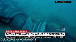 Mesin Pesawat Lion Air Ditemukan