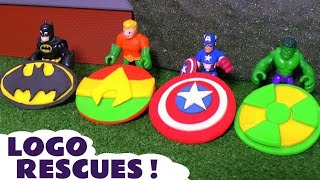 Batman Aquaman and Hulk Logo Robbery Play Doh Thomas and Friends Toy Story | Justice League TT4U