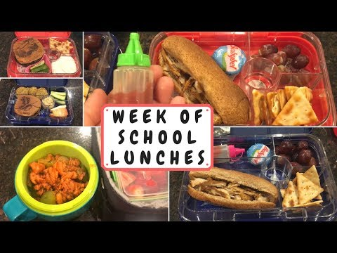 School Lunch Ideas | Week 3 | Week of School Lunches | September 2017